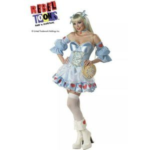 Alice In Wonderland Costume Sexy Dress SMALL Rebel